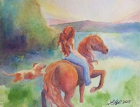 Evening Ride by Laurel Anne Equine Art