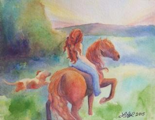 Evening Ride by Laurel Anne Equine Art