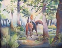 """Quiet Summer Woodland"" by Laurel Anne Equine Art"