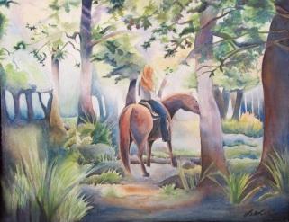 """""""Quiet Summer Woodland"""" by Laurel Anne Equine Art"""