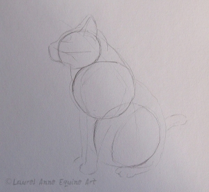 Preliminary sketch of a cat