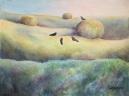 Hayfield by Laurel Anne Equine Art