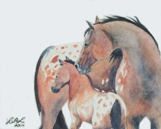 Mother's Love by Laurel Anne Equine Art
