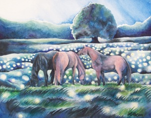 Summer Night by Laurel Anne Equine Art
