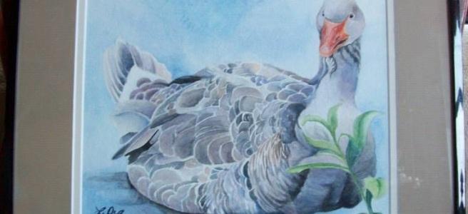 Goose Portrait by Laurel Anne Equine Art