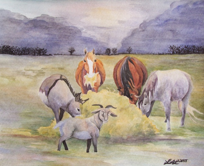 Thanksgiving by Laurel Anne Equine Art