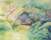 Summer Shelter by Laurel Anne Equine Art