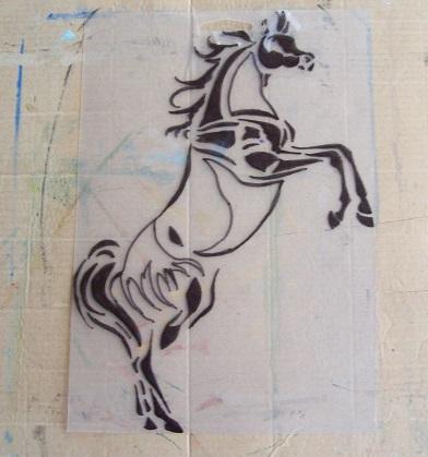 Arabian Horse Stencil Ready to Cut