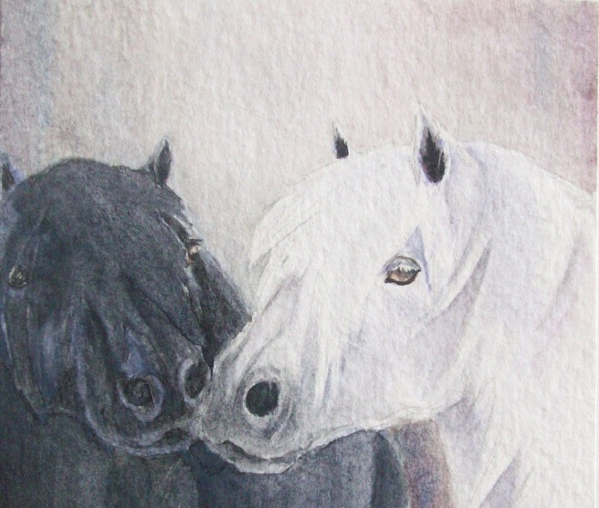 Pony Kiss by Laurel Anne Equine Art