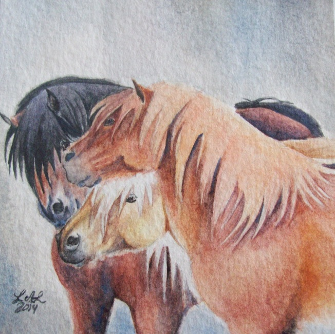 Three Musketeers by Laurel Anne Equine Art