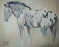 """Cherokee 8"""" x 10"""" original watercolor painting by Laurel Anne Equine Art"""