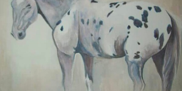 "Cherokee 8"" x 10"" original watercolor painting by Laurel Anne Equine Art"