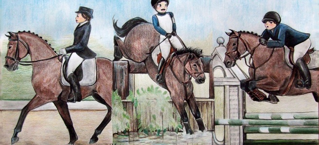 Three Day Eventing: Sport of the Brave, Original Comic by Laurel Anne Equine Art